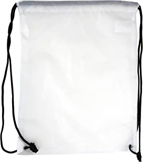 5 Pack 210D Polyester Drawstring Backpack, Gym Sports, Outdoor Backpack, Camping and Hiking White Bags (5 Pack, White)