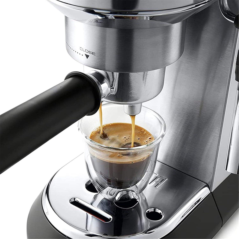 Café Machine 800W Cafetière portable Acier Inoxydable Arrêt Automatique Café Machine pour la maison, le bureau, le camping-car Black
