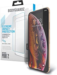 BodyGuardz - Pure Glass Screen Protector, Ultra-Thin Tempered Glass Screen Protector for iPhone Xs Max