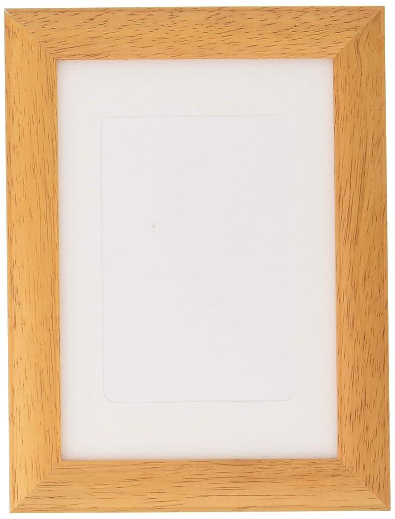アノイ男性脇にDNPフォトイメージング フォトフレーム ゴムの木 L/ハガキ 木製 チーク 103140