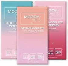 MOODYGIRL - Dark Chocolate Bars Variety Pack - Vegan Chocolate Bars - Organic Dark Chocolate Bars - Vegan Dark Chocolate -...