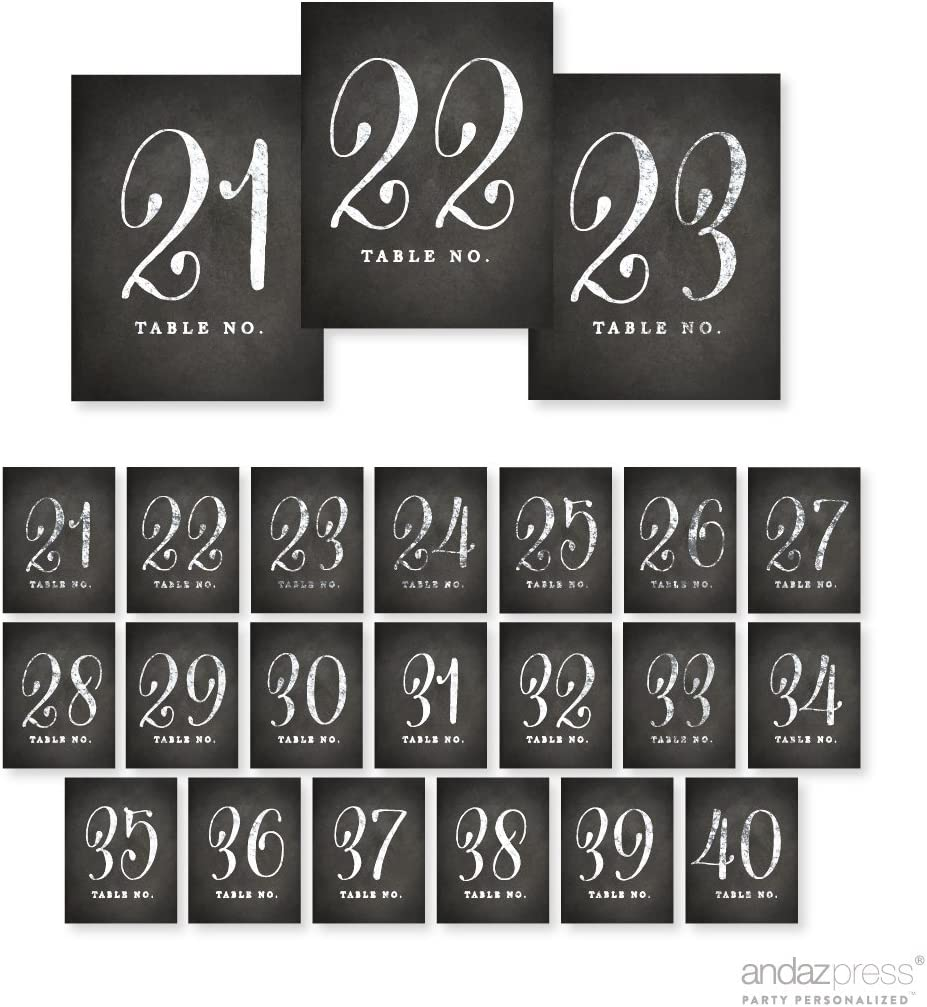 Andaz 2021 Press Table Numbers In a popularity 21-40 Cha on Vintage Paper Perforated