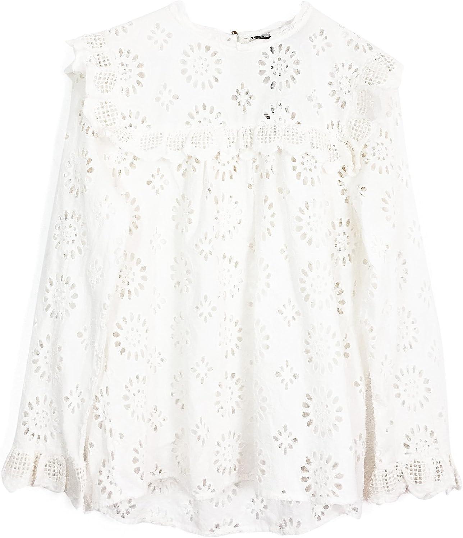 Zara Camisas - para Mujer Weiß XXL: Amazon.es: Ropa