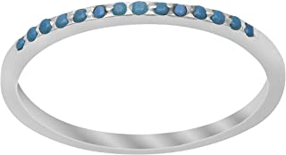 Shine Jewel 925 Sterling Silver 0.30 Ctw Round Shape Turquoise Gemstone Stackable Women Ring (6)