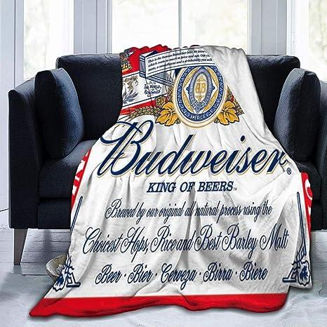 Amazon Com C Joy Budweiser Beer Logo Throw Blanket Ultra Soft Flannel Fleece All Season Light Weight Living Room Bedroom Warm Blanket Home Kitchen
