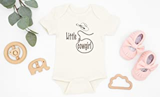 Little Cowgirl Organic Cotton Baby Bodysuit, Country Girl Shirt, Rodeo Baby Girl, Country Baby Shower Gift, Rustic Baby, Infant Girl Outfit