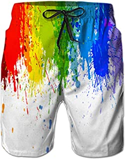 Mens Swim Trunks Summer Cool Quick Dry Board Shorts Bathing Suit with Side Pockets Mesh Lining S-XXXL