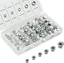 Neiko 50432A Nylon Lock Hex Nut Assortment Kit, 150 Pieces   SAE Sizes
