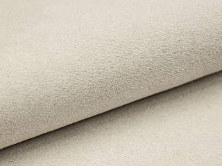 Lederkonzept Alcala Stoff Meterware Wildleder-Imitat Velours Microfaser Möbelstoff Polsterstoff 50 Creme