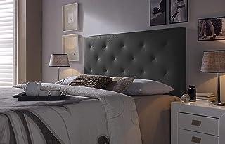 Cabezal tapizado Rombo 150X60 Negro, Acolchado con Espuma, 8