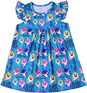 Tangduo Baby Shark Flutter Dress Baby Girls Birthday Clothes