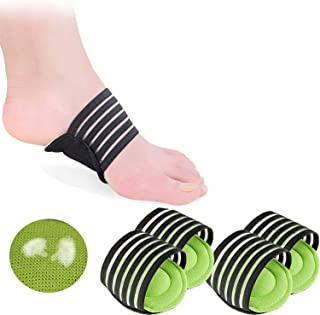 2 Pairs Extra Thick Cushioned Compression Arch Support with More Padded Comfort for Plantar Fasciitis, Fallen Arches, Heel...