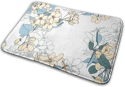 Door Mats Blossoms Floor Mat Indoor Outdoor Entrance Bathroom Doormat Non Slip Washable Welcome Mats Decor 23.6 x 15.7 inch