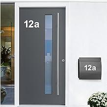 Wandora W1473 Muursticker huisnummer zelfklevend I wit hoogte 8 cm teken 7 I cijfers letters cijfers deur belettering