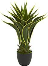 "Nearly Natural 23"" Agave Artificial Plant, Green"