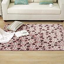 Padded Memory Cotton Rugs Coral Velvet Carpet Living Room Printed Rug Bedroom Bedside Rugs Bath Mat Washable Soft mat (Col...