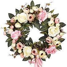 Sunm Boutique Rose Floral Twig Wreath, 14