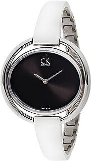 Calvin Klein Women's Quartz Watch with Black Dial Analogue Display Quartz Stainless Steel K4°F2N111