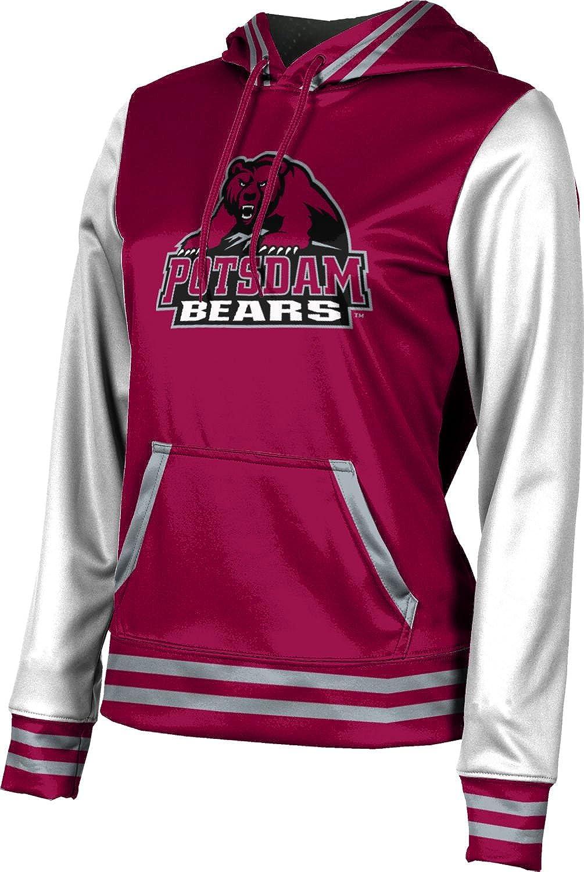 State University of New York at Potsdam Girls' Pullover Hoodie, School Spirit Sweatshirt (Letterman) F9BC5 Red and Gray