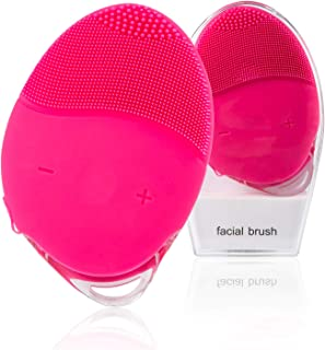 Facial Cleaning Brush,Waterproof & Silicon Facial Cleaner, Electric Masager Cleansing System for Deep Cleansing Skin Care, Face Massage Brush and USB Charging Cables