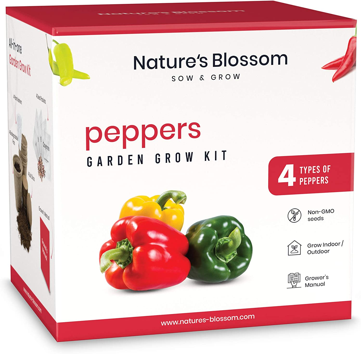 Nature's New popularity Blossom Gardening Kit - Includes Types Colorado Springs Mall of Sweet Hot 4