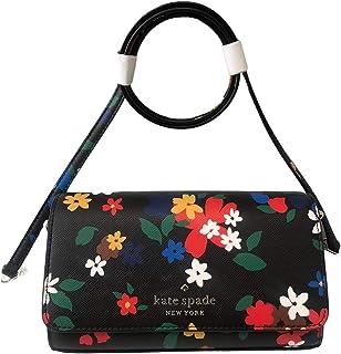 Kate Spade New York Staci Daisy Black Multi Floral Small Flap Crossbody Handbag