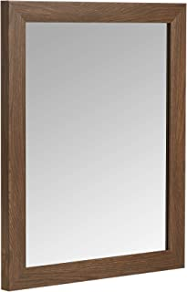 AmazonBasics Rectangular Wall Mirror 41 x 51 CM - Standard Trim, Walnut