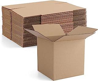 صندوق شحن من الورق المقوى مقاس 5 × 5 × 5 انش من يوابكو، 25 عبوة، صناديق شحن صغيرة مموجة للبريد، لون بني