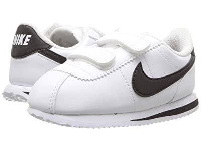 Nike Kids Cortez Basic SL (Infant/Toddler) (White/Black) Boys Shoes
