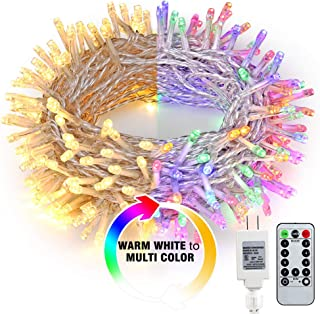 Brizled Color Changing Indoor String Lights, 65.67ft 200 LED 9-Function Warm White MultiColor LED String Lights, Dimmable 24V Safe Adapter Fairy Light with Timer&Remote for Easter Pastel Party Wedding