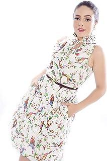 Vestido Mania de Sophia Curto Estampado Branco