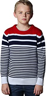 Big Boys' Wool Blends Casual Pullover Cardigan Sweater
