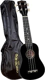 Diamond Head DU-100 Rainbow Soprano Ukulele - Black