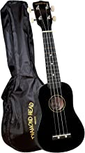 Diamond Head, DU-100, Rainbow Soprano Ukulele, Black