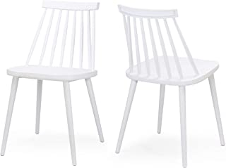 20.28 x W 36.22 White Sauder Woodworking 20.08 x H Sauder 416568 Cottage Road Spindle Back Chair L