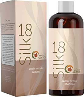 Silk18 Natural Hair Shampoo for Women Men Teens Advanced Anti Frizz Formula for Normal to Dry Hair Sulfate Free for Color Treated Hair Pure Jojoba Argan Oil Moisturizers and Keratin Silk Amino Acids