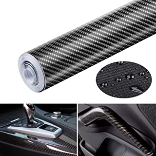 Bingcute 6D Carbon Fiber Vinyl Waterproof Adhesive/Adhesive Cover Black Suitable for Cars/Stickers for Car/Motorcycle Wrap...
