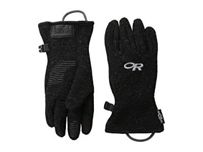 Outdoor Research Kids Flurry Sensor Gloves (Little Kid) (Black) Extreme Cold Weather Gloves