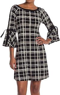 فستان نسائي مطبوع بأكمام 3/4 من Sandra Darren