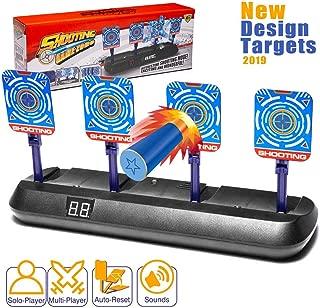 Masstimo Electronic Digital Target for Nerf Guns, Auto-Reset Intelligent Light Sound Effect Scoring Target for Nerf N-Strike Elite/Mega/Rival Series