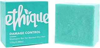 Ethique Eco-Friendly Solid Shampoo Bar for Normal-Dry Hair, Damage Control - Sustainable Natural Shampoo, Plastic Free, pH Balanced, Vegan, Plant Based, 100% Compostable and Zero Waste, 3.88oz