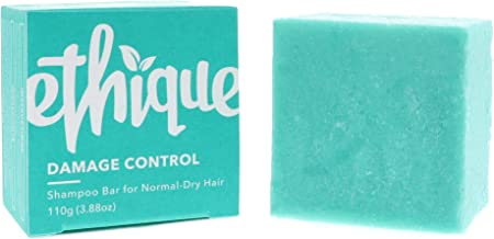 Ethique Eco-Friendly Solid Shampoo Bar for Normal-Dry Hair, Damage Control - Sustainable Natural Shampoo, Plastic Free, pH...