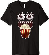 Kawaii Eyes Popcorn Monster Movies Pop Corn Costume Gifts Premium T-Shirt