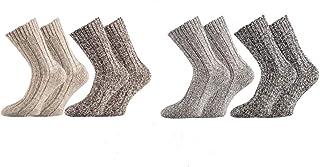 0c982b8b4c1d6 Wowerat original 4 paires de chaussettes norvégiennes ultra-douces ( chaussettes en laine) prélavées
