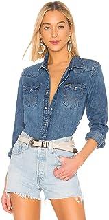 Wrangler Women's Icons 27WW Denim Snap Button Shirt