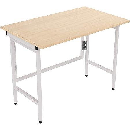 InnoFur Aplos Engineered Wood Matte Finish Folding Big Study Desk/Laptop Table for Home and Office (Beige)
