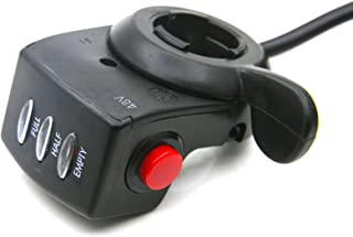 Speed Control Thumb Throttle Grip For Scooter Ebike Electric Bicycle With OnOff Button And Battery Power Indicator Bar