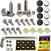Aootf Anti Theft License Plate Screws - Stainless Steel Tamper Resistant Locking License Plate Security Screws Fasteners S...