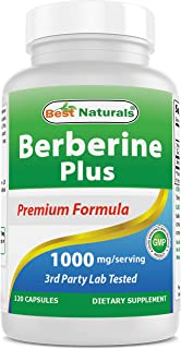 Best Naturals Berberine Plus 1000mg/Serving 120 Capsules - Promotes Healthy Healthy Glucose Metabolism & Immune Function -...