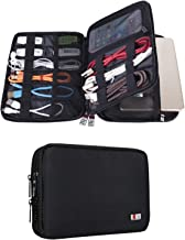 BUBM Double Layer Electronic Accessories Organizer, Travel Gadget Bag for Cables, USB Flash Drive, Plug and More, Perfect ...
